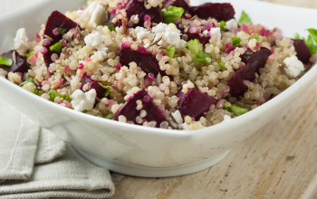 Honey Beets in Quinoa