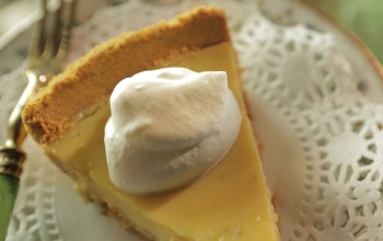 Lime and Tequila Custard Tart