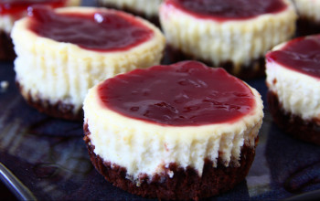 Mini Black-Bottom Cheesecakes