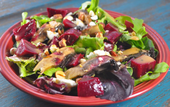 Roasted Beet and Portobello Salad