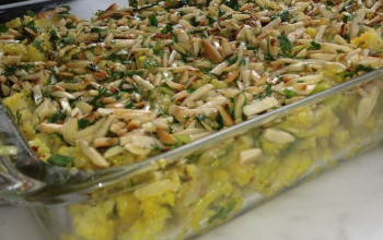 Cauliflower and Leek Kugel