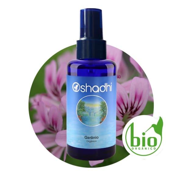 Hidrolato de Gerânio - Orgânico (Água Floral) - 100ml