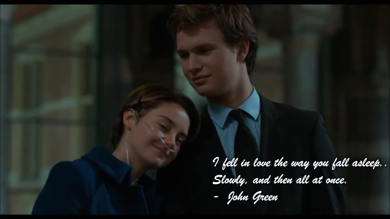 I fell in love - John Green Quotes (The Fault in Our Stars)