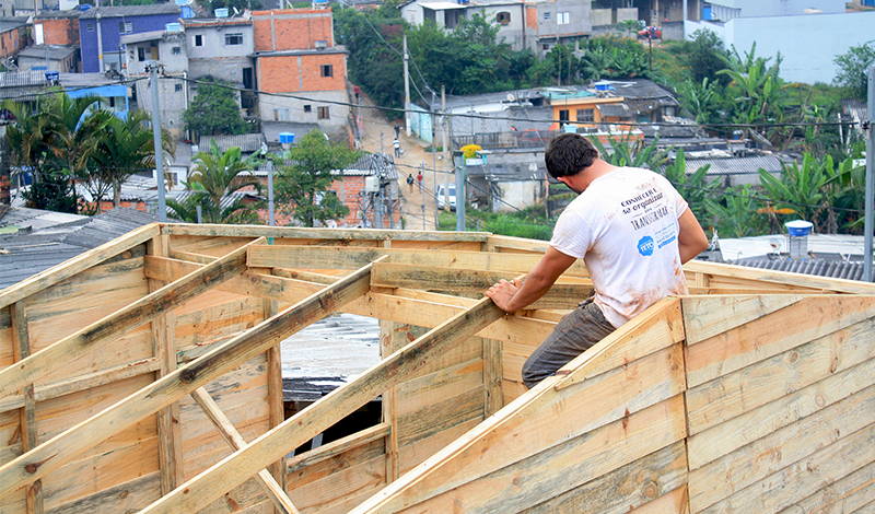 Teto building workshop house building in brazil cities for Help building a house