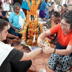 Laos customs - Baci ceremony