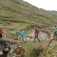 hiking Andes landscape