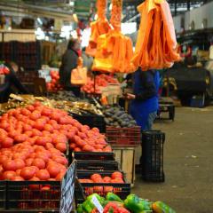 Chile market in Santiago