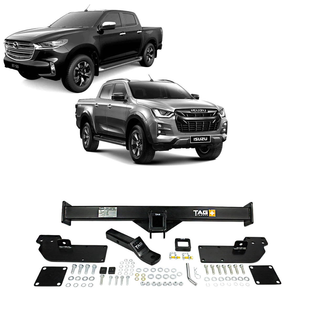 TAG Heavy Duty Towbar to suit Mazda BT-50 (08/2020 - on), Isuzu D-MAX (07/2020 - on)