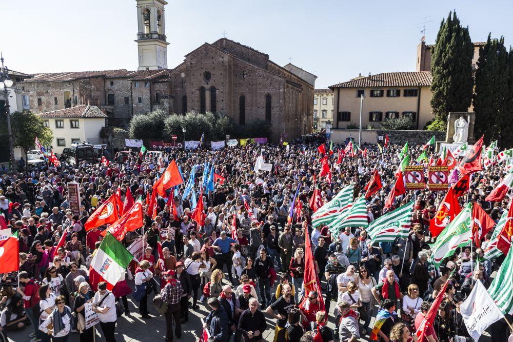 23 marzo 2019: la festa antifascista di piazza delle Carceri a Prato