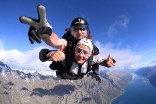 Sky Diving 12000ft Tandem Jump Over Queenstown