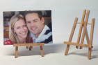 Personalised A4 Photo Canvas and Min Easel