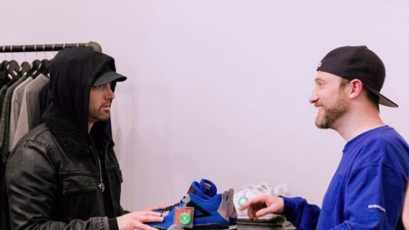 2e4909782457 Eminem is re-releasing Air Jordan 4 Encore sneakers to raise money for  Detroit youth