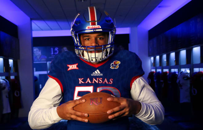 The Jayhawks were searching for a middle LB and found a good one in Kenny Bastida