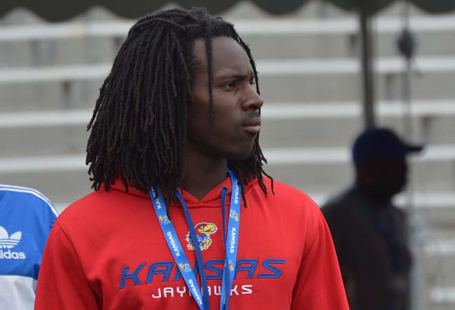 Hunt committed to the Jayhawks after the spring game