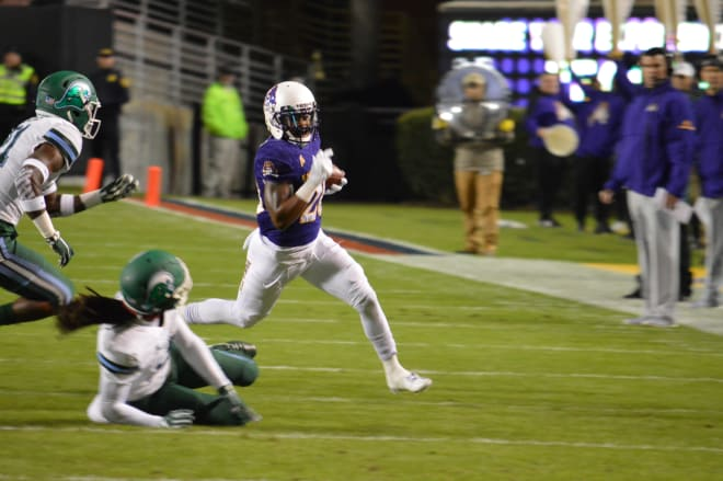 ECU running back Hussein Howe ran for 108 yards last week against Tulane and hopes that continues.
