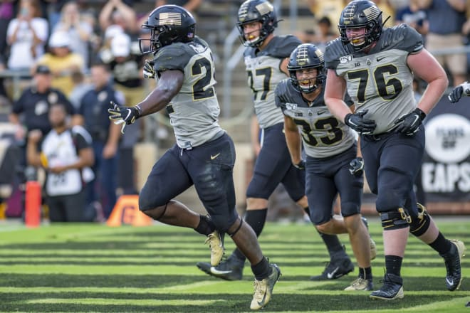 King Doerue getting in the end zone three times was a rare occurrence by a Boilermaker true freshman.