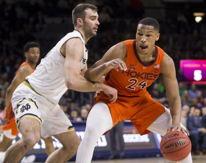 John Mooney (12 points and 10 rebounds) and Kerry Blackshear (22 points, 14 rebounds) both posted double doubles in Virginia Tech's 67-59 win.