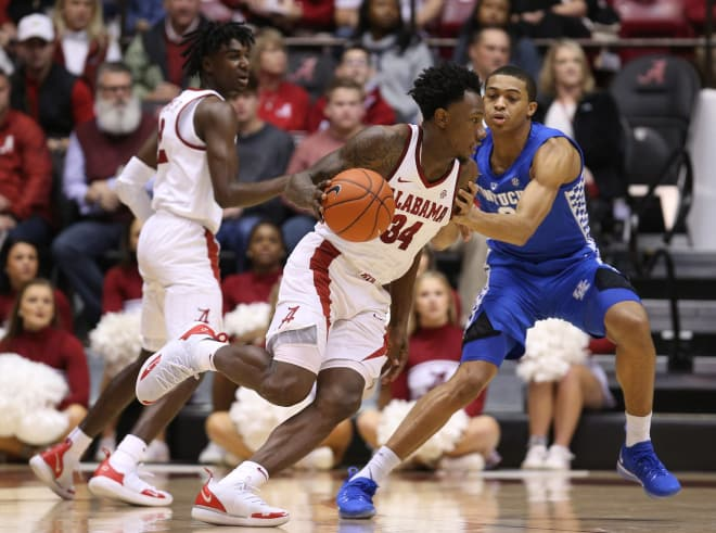 Alabama upsets No. 13 Kentucky 77-75 in SEC opener