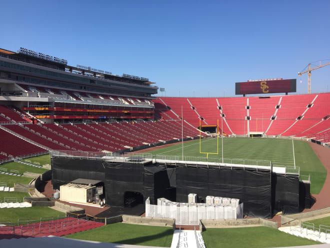 TrojanSports - USC unveils renovated, updated Coliseum