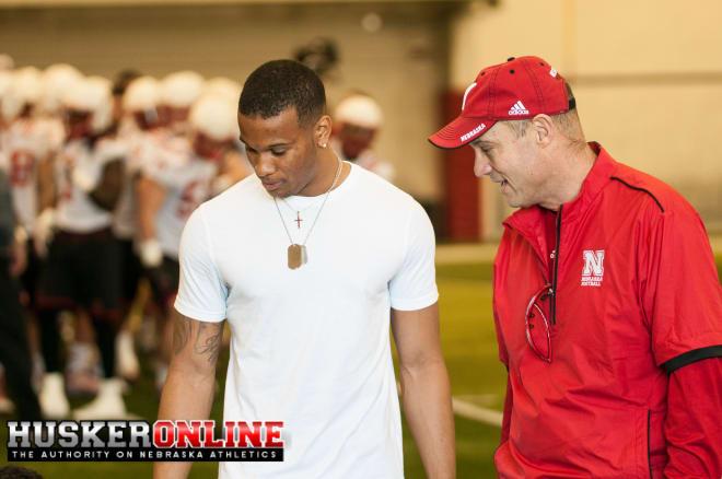 Former Husker wide receiver Jamal Turner and Mike Riley