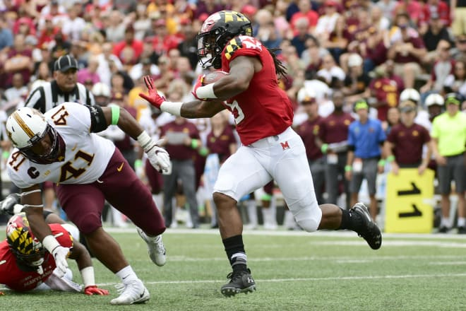 Anthony McFarland is part of a deep running back unit in College Park, Md.