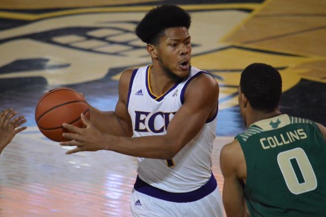 Jayden Gardner and ECU begin basketball practice on Saturday in preparation for the season opener against VMI on Nov. 5 in Minges Coliseum.