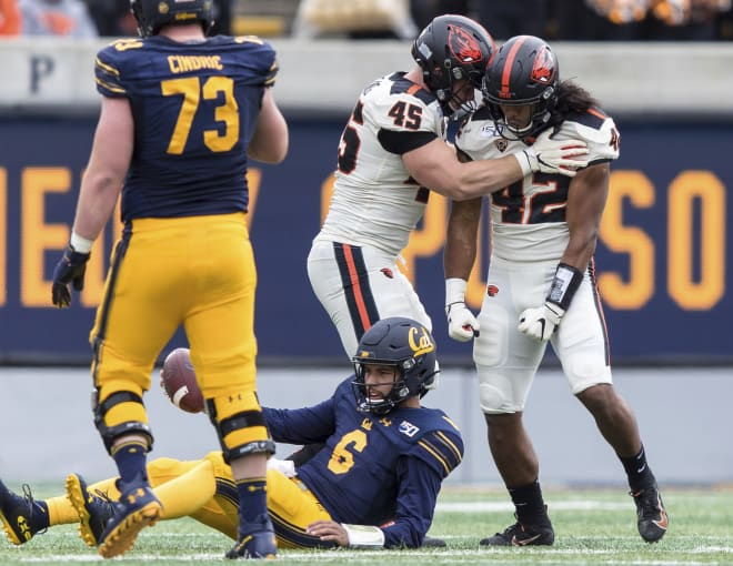 Oregon State holds on to beat Cal 21-17