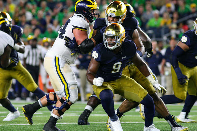 Daelin Hayes is among the bevy of players who make defensive end potentially Notre Dame's strongest position group in 2019.
