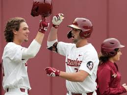 Florida State right fielder Reese Albert slammed a pair of homers, including a game-tying three=run shot in the seventh inning, to rally FSU to a 6-4 win at LSU in game one of a Super Regional.