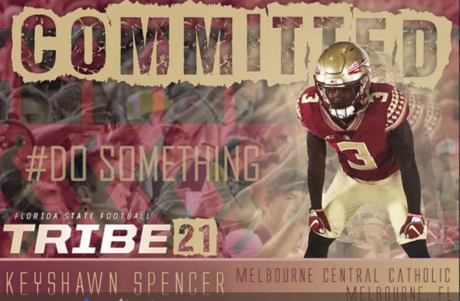 RB Keyshawn Spencer becomes the first 2021 commit for the Noles.