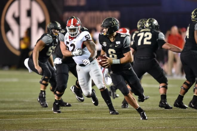 Seeking a havoc rate of 20 percent, Georgia fell well short at Vanderbilt with an 8.1.