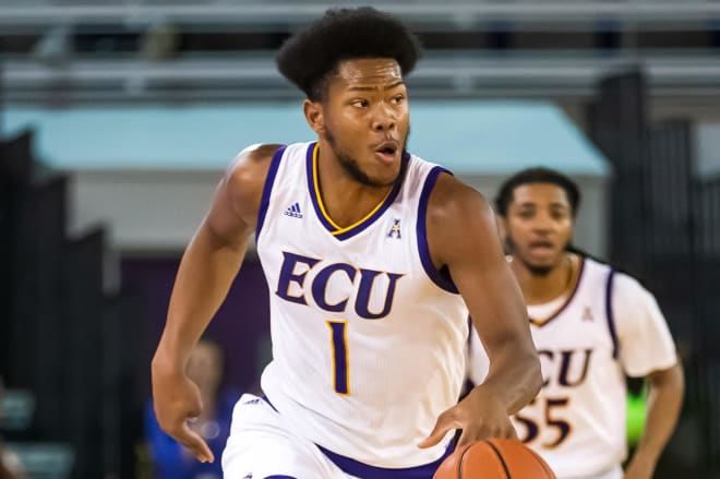Jayden Gardner scores 15 points and nabbed eight rebounds but ECU falls in Annapolis to Navy 62-57.