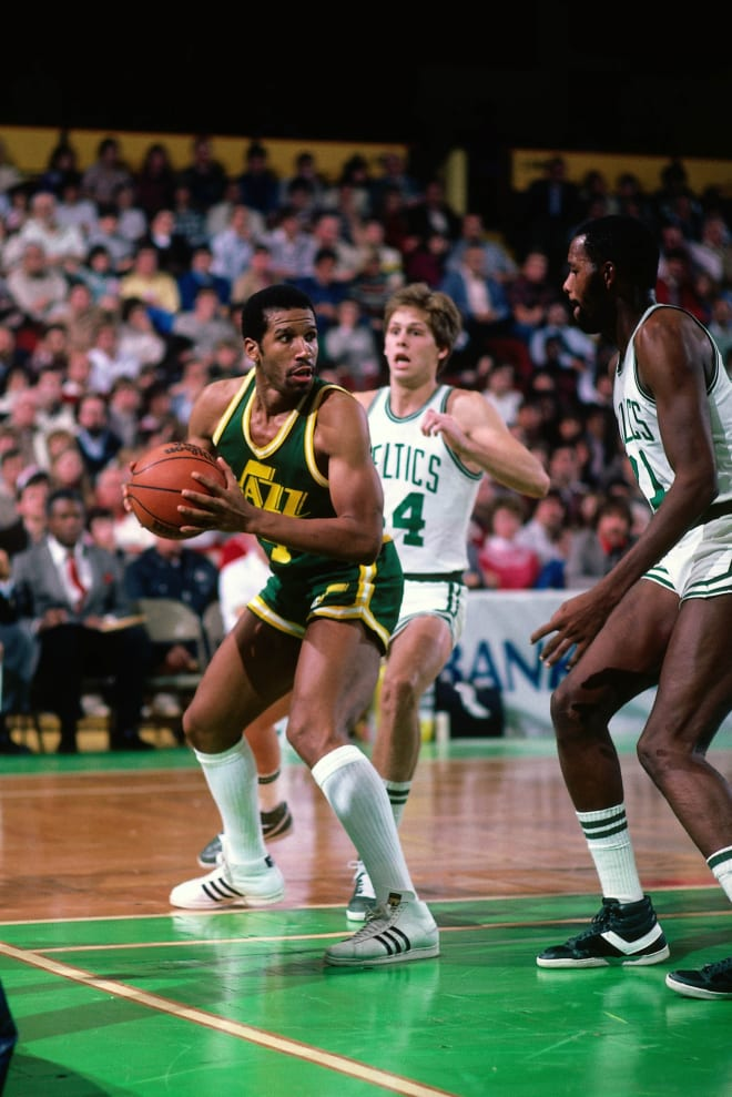 Adrian Dantley scored more points than any Notre Dame alumnus in the NBA and is enshrined in the Naismith Basketball Hall of Fame.