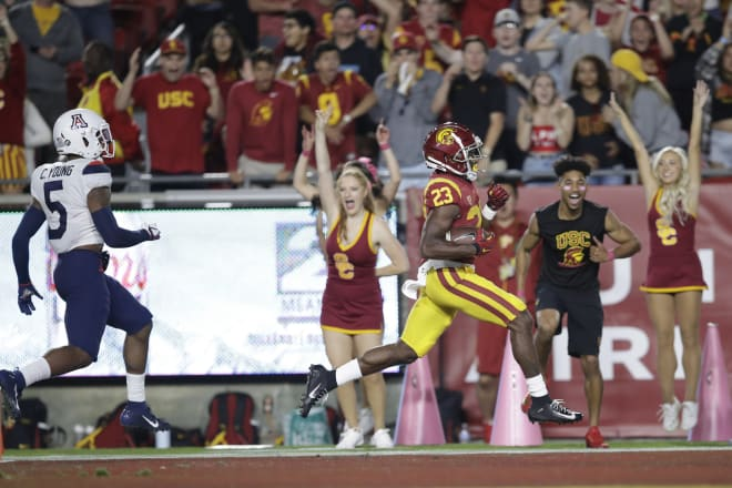 TrojanSports - The future of USC's backfield on display as Kenan Christon stars in debut