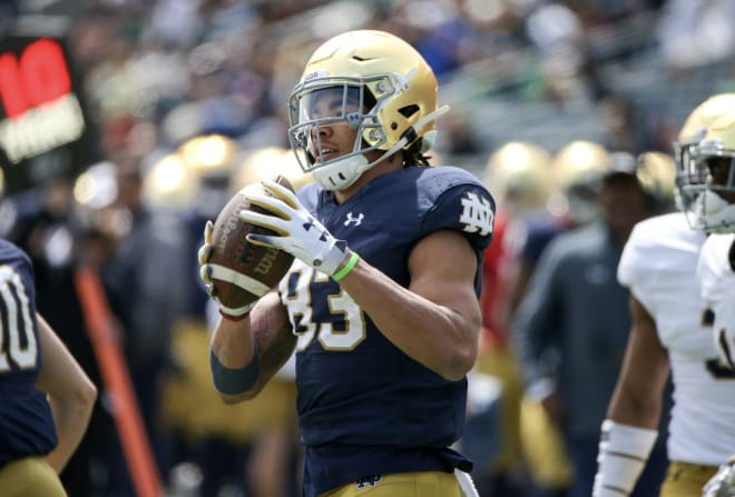 Notre Dame receiver Michael Young suffers broken collarbone | Irish Insights