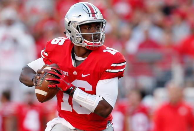 Quarterback J.T. Barrett