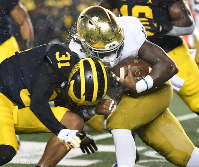 Notre Dame has been 33-6 the past three years while Michigan was 27-12, despite last year's convincing win versus the Irish.