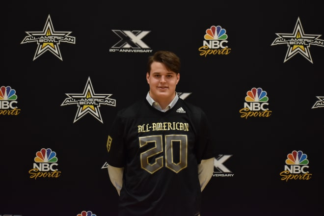 Four-star OL Michael Carmody will sign with Notre Dame on Wednesday.