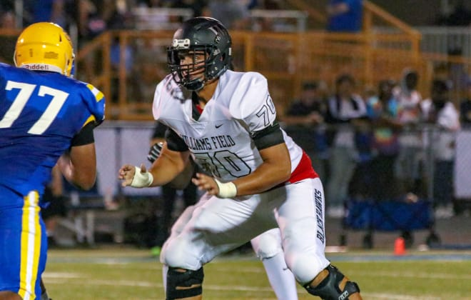 Noah Nelson, a 3-star offensive tackle from Gilbert, Ariz., picked up a USC offer last week.