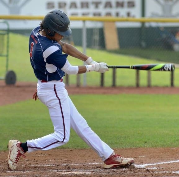 Spotsylvania's Dante' Fairchild (pictured in last June's 3A state semifinal game against Turner Ashby) is the spark plug at the top of the Knights' lineup.  The senior center fielder earned 3A first-team all-state honors last season after batting .426.