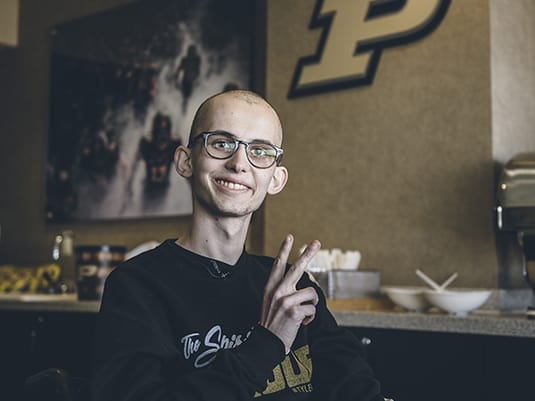 Purdue fan who inspired many with fight against cancer dies