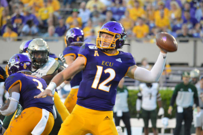Holton Ahlers and East Carolina prepare for their fifth game of the season on Saturday in Norfolk against ODU.