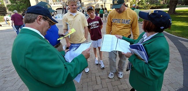 Notre Dame's hospitality committee was a big hit with Georgia fans.