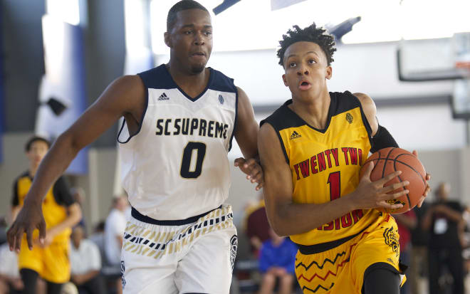 68248e5119d6 No. 2 and No. 3 Zion Williamson and Romeo Langford duel at adidas Gauntlet