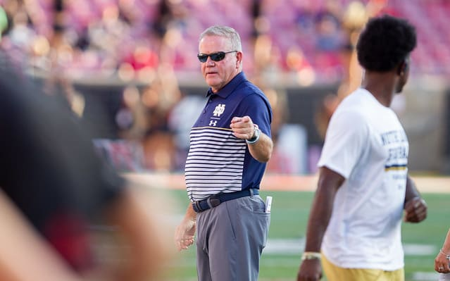 Brian Kelly noted during Tuesday's conference the rotation at linebacker is about playing to certain strengths against offenses.
