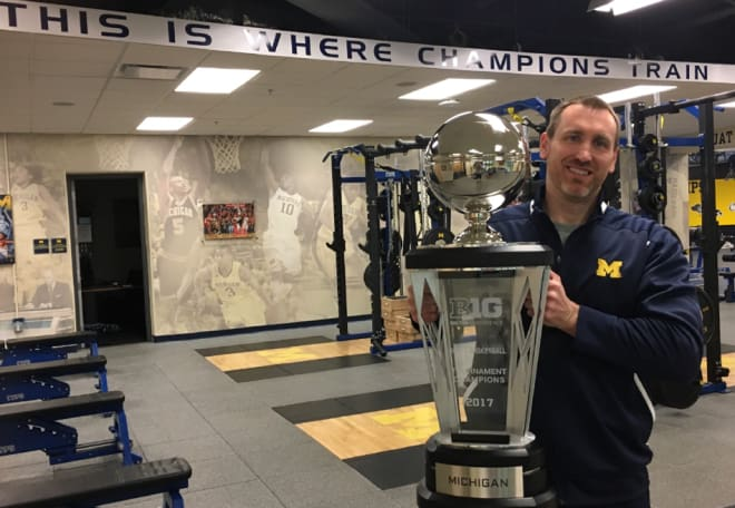 "Jon Sanderson's book ""Basketball Strength and Conditioning: Above the Rim with Camp Sanderson"" was a labor of love for U-M''s strength coach."