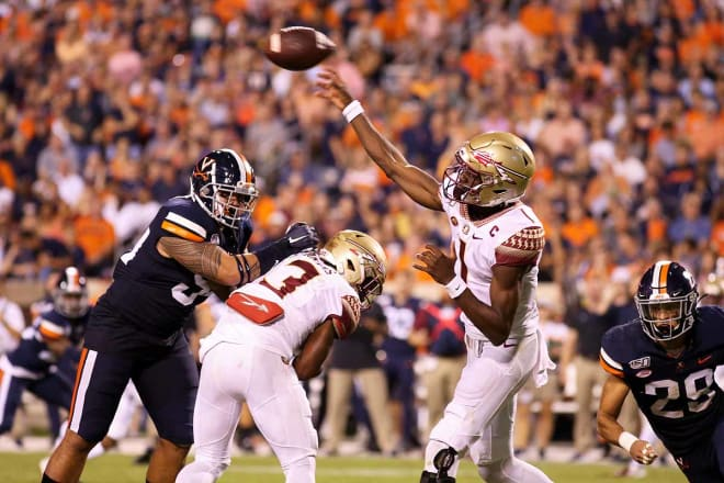 James Blackman completed 22-of-37 for 234 yards and three touchdowns in the loss to UVA.