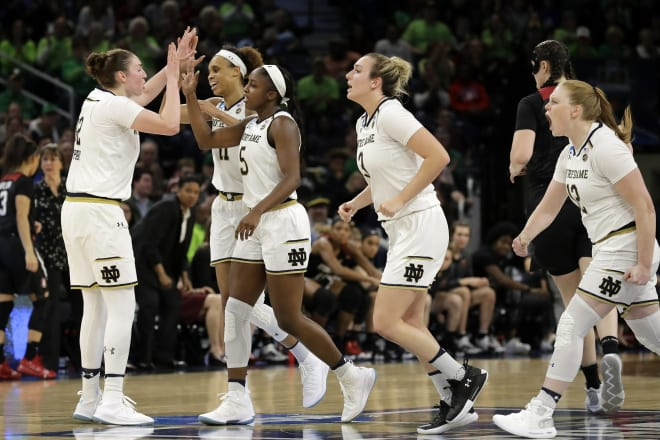 Notre Dame, UConn, Baylor and OR  reach Final Four