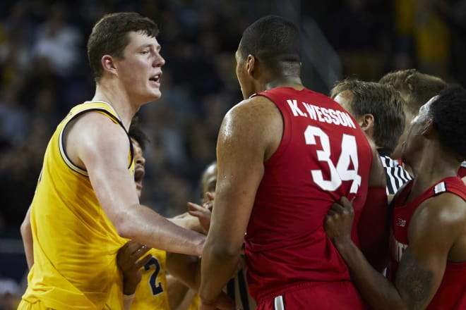 Junior center Jon Teske and the Wolverines weren't going to be pushed around by Ohio State.