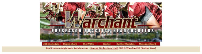 Warchant com - Spring Practice 2014 Headquarters